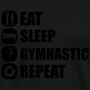 eat_sleep_gymnastic_repeat_5_1f Tank Tops - Men's Premium T-Shirt