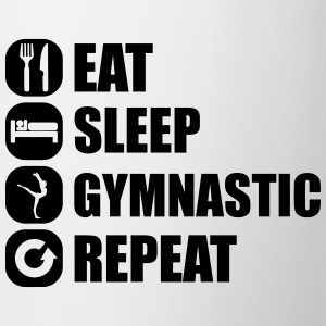 eat_sleep_gymnastic_repeat_5_1f T-shirts - Kop/krus
