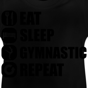 eat_sleep_gymnastic_repeat_5_1f Gensere - Baby-T-skjorte