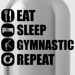 eat_sleep_gymnastic_repeat_4_1f T-shirts - Vattenflaska