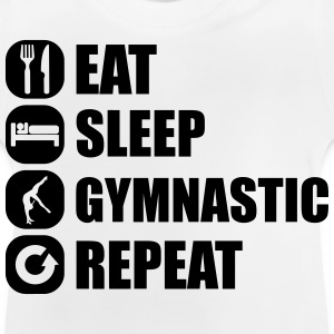 eat_sleep_gymnastic_repeat_4_1f Skjorter - Baby-T-skjorte