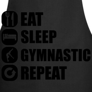 eat_sleep_gymnastic_repeat_4_1f T-shirts - Forklæde