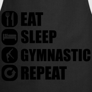 eat_sleep_gymnastic_repeat_4_1f T-Shirts - Kochschürze