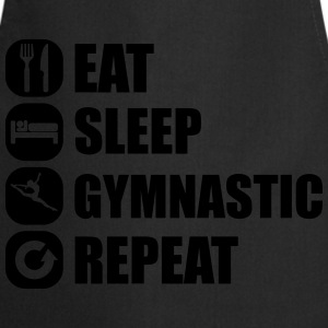 eat_sleep_gymnastic_repeat_2_1f Koszulki - Fartuch kuchenny