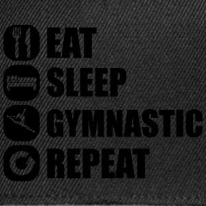 eat_sleep_gymnastic_repeat_2_1f T-shirts - Snapback cap
