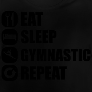 eat_sleep_gymnastic_repeat_2_1f Langarmshirts - Baby T-Shirt