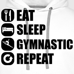 eat_sleep_gymnastic_repeat_2_1f T-skjorter - Premium hettegenser for menn