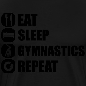 eat_sleep_gym_repeat_341f Pullover & Hoodies - Männer Premium T-Shirt
