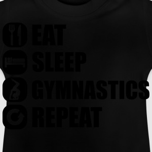 eat_sleep_gym_repeat_341f Camisetas - Camiseta bebé