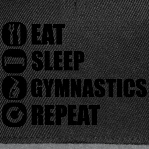 eat_sleep_gym_repeat_341f Shirts - Snapback cap