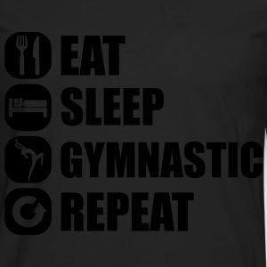 eat_sleep_gymnastic_repeat_1_1f Sweatshirts - Herre premium T-shirt med lange ærmer