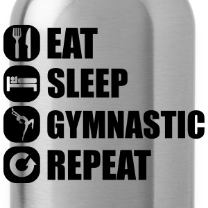 eat_sleep_gymnastic_repeat_1_1f T-skjorter - Drikkeflaske