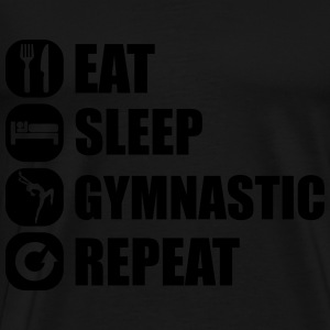 eat_sleep_gymnastic_repeat_1_1f Toppe - Herre premium T-shirt