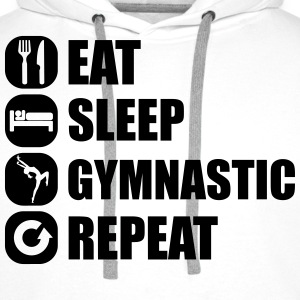 eat_sleep_gymnastic_repeat_1_1f Langarmede T-skjorter - Premium hettegenser for menn