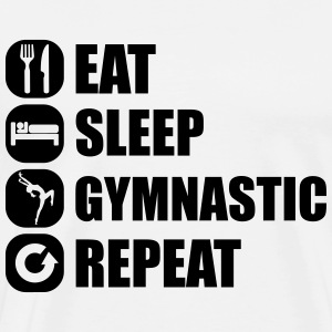 eat_sleep_gymnastic_repeat_1_1f Long Sleeve Shirts - Men's Premium T-Shirt