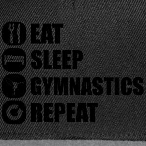 eat_sleep_gym_repeat_1_1f Magliette - Snapback Cap