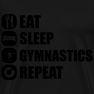 eat_sleep_gym_repeat_1_1f Hoodies - Men's Premium T-Shirt
