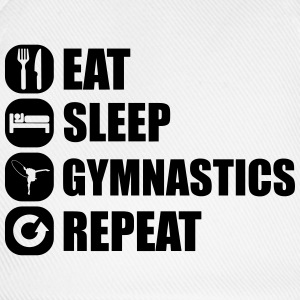 eat_sleep_gym_repeat_1_1f Langarmshirts - Baseballkappe