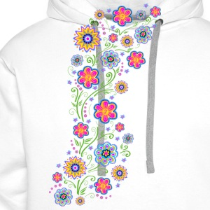Spring flowers, summer, garden, nature, beautiful Tops - Men's Premium Hoodie
