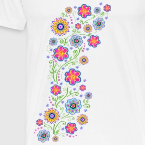 Spring flowers, summer, garden, nature, beautiful Tops - Men's Premium T-Shirt