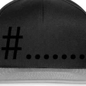 # hashtag Tee shirts - Casquette snapback