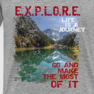 Explore - life is a journey Tops - Männer Premium T-Shirt