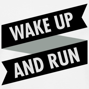 Wake Up And Run Tank Tops - Men's Premium T-Shirt