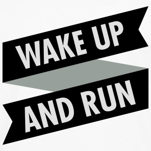 Wake Up And Run T-shirts - Herre premium T-shirt med lange ærmer