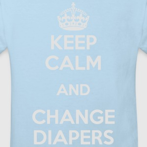 Keep calm, change diapers Langarmbody - Kinder Bio-T-Shirt