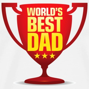 Best Father of the World Mugs & Drinkware - Men's Premium T-Shirt