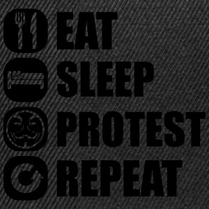 eat_sleep_fuck_protest_22_1f Tee shirts - Casquette snapback
