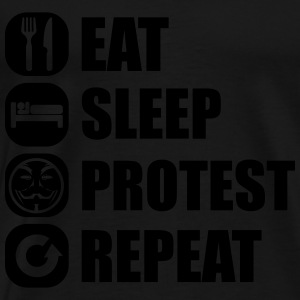 eat_sleep_fuck_protest_22_1f Tanktops - Mannen Premium T-shirt