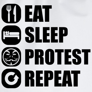 eat_sleep_fuck_protest_22_1f Langarmshirts - Turnbeutel