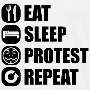 eat_sleep_fuck_protest_22_1f Long Sleeve Shirts - Men's Premium T-Shirt