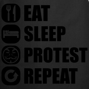 eat_sleep_fuck_protest_22_1f Long Sleeve Shirts - Cooking Apron