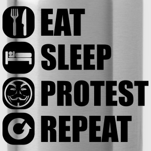 eat_sleep_fuck_protest_22_1f Long Sleeve Shirts - Water Bottle