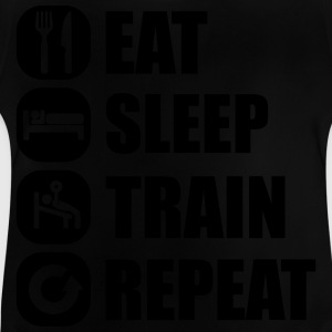 eat_sleep_train_repeat Pullover & Hoodies - Baby T-Shirt