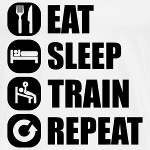 eat_sleep_train_repeat Langarmshirts - Männer Premium T-Shirt