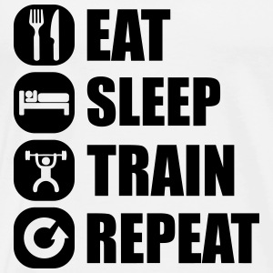 eat_sleep_train_repeat_15_1f Tank Tops - Men's Premium T-Shirt