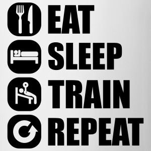 eat_sleep_train_repeat_16_1f Långärmade T-shirts - Mugg