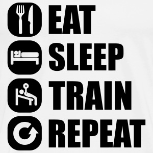 eat_sleep_train_repeat_16_1f Long Sleeve Shirts - Men's Premium T-Shirt
