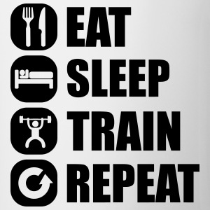 eat_sleep_train_repeat_15_1f Tee shirts - Tasse