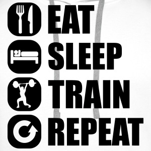 eat_sleep_train_repeat_14_1f Camisetas - Sudadera con capucha premium para hombre