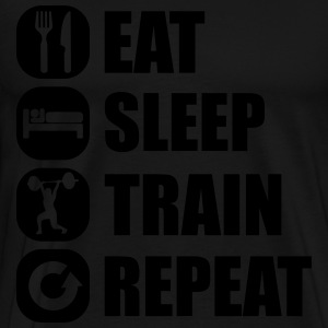 eat_sleep_train_repeat_14_1f Bluzy - Koszulka męska Premium