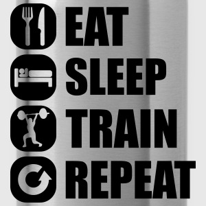 eat_sleep_train_repeat_14_1f Långärmade T-shirts - Vattenflaska