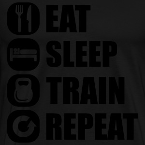 eat_sleep_train_repeat_12_1f Bluzy - Koszulka męska Premium