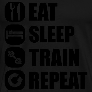 eat_sleep_train_repea Langarmshirts - Männer Premium T-Shirt