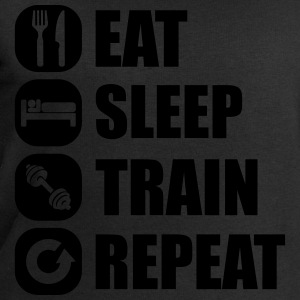 eat_sleep_train_repeat_11_1f Camisetas - Sudadera hombre de Stanley & Stella