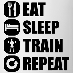eat_sleep_train_repeat_10_1f Camisetas - Taza