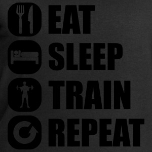 eat_sleep_train_repeat_10_1f Camisetas - Sudadera hombre de Stanley & Stella